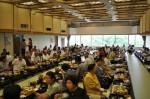 「「ホテル美やま」での宴会の様子(12日)