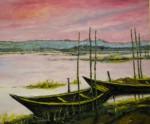 熊懐康彦「印旛沼の夕焼け」