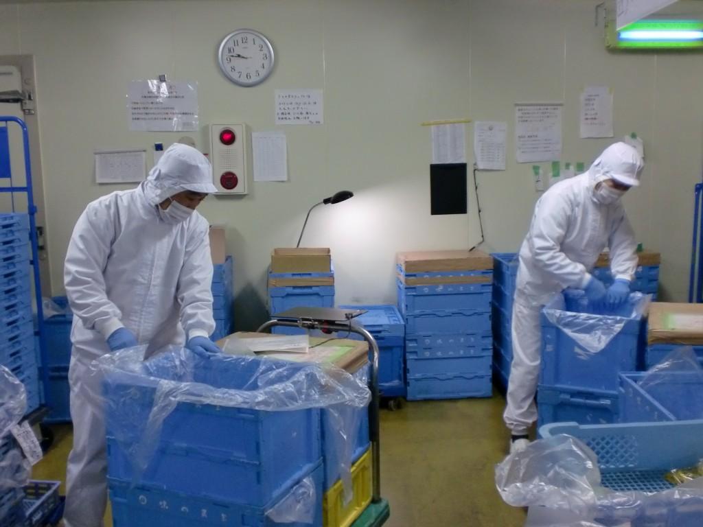 訪問時に就業されていた長沢さん(左)と保泉さん